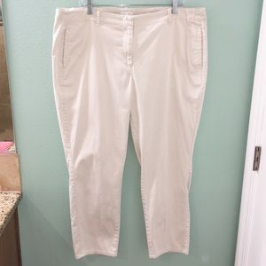 J. Jill Live-in Chino Women's Khaki Trouser Pants